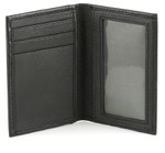 Leather Credit Card Holder with Front ID Window