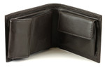 Buxton Zip Convertible Wallet - Brown Open
