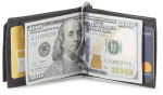 men's t fold wallet with covered money clip