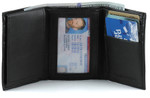 Trifold Wallet with Left Side Flip Up ID