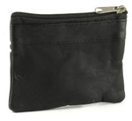Leather Zip Coin Purse - Back