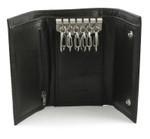 Leather Key Case Wallet open