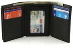 Buxton RFID ID Trifold Wallet with Pull Out Card Case - Open