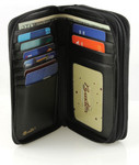 Buxton Heiress Double Zip Indexer Wallet - Card Slots, ID, Bill Compartment