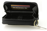 Buxton Heiress Double Zip Indexer Wallet - Large Zipper Compartment