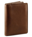 Osgoode Marley Gusset Card Case with Extra Page - Brandy