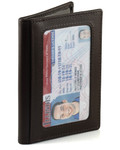 Triple ID Holder with Hidden Card Pocket Brown