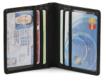 Double ID and Credit Card Holder - Black