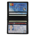 Double ID and Credit Card Holder Open and Flash - Black