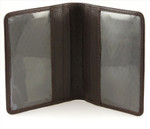 Double ID and Credit Card Holder - Brown
