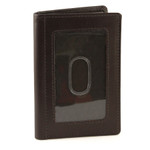 Credit Card and ID Holder with Extra Compartment Front Brown