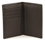 Credit Card and ID Holder with Extra Compartment Open Brown