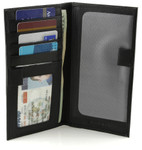 RFID Checkbook Cover with Credit Card Pockets