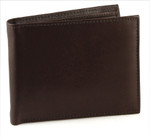Bifold Removable Pass Case Wallet Brown