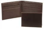 Bifold Removable Pass Case Wallet ID Case Brown