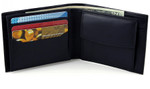 Bifold Change Pocket Wallet with Flip Up ID