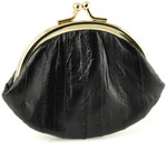Eel Skin Kiss Lock Change Purse 3.5""