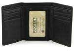 Tri Fold Wallet Open - Black