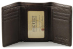 Mens Tri Fold Wallet - Espresso