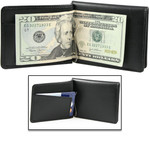 Mens Wallet with Money Clip Open