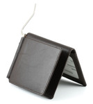 Mens Wallet with Money Clip Brown