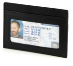 Credit Card Holder with ID Black Front