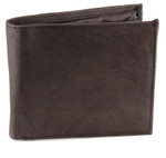 Deluxe Bifold Coin Wallet Brown