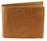 Deluxe Bifold Coin Wallet Tan