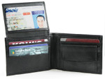 Bifold Coin Wallet with Flip Up ID
