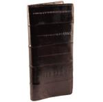 Eel Skin Checkbook Wallets - Brown