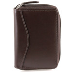 Accordion Credit Card Holder Brown