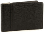 Metro Leather Wallet with Money Clip Front Brown