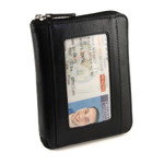 RFID Unisex Zip Around Wallet
