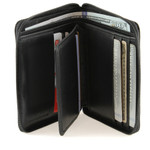 RFID Unisex Zip Around Wallet Center Wing
