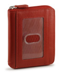 Zip Around Wallet - Red Front