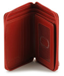 Zip Around Wallet - Red Open