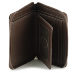 Zip Around Wallet - Brown Open
