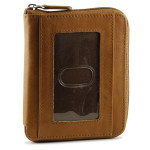 Zip Up Wallets - Tan