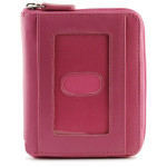 RFID Zipper Wallet - Pink