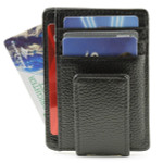 Ultra Slim RFID Leather Magnetic Money Clip with Card Case