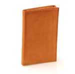 Ultra Slim Trifold Wallet Front Tan