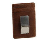 Slim Front Pocket Money Clip with ID Toffee