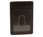 Slim Front Pocket Money Clip with ID Brown