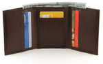 RFID Trifold Men's Wallet Brown