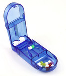 Pill Splitter and Storage Compartment Case