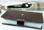 Large Capacity Card & ID Holder Brown