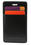 ID & Credit Card Lanyard Holder - Black Back