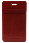 ID & Credit Card Lanyard Holder Red Back
