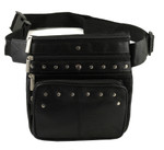 Studded Leather Hip Bag
