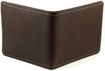 Men's Bifold Credit Card Wallet - Brown Back